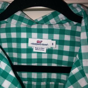 Vineyard Vines Tops - Vineyard Vines Whale Green Gingham Button Down 6